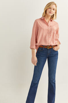 Springfield Pink Checked Lurex Blouse pink