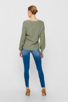 Springfield Balloon sleeve knit jumper zöld
