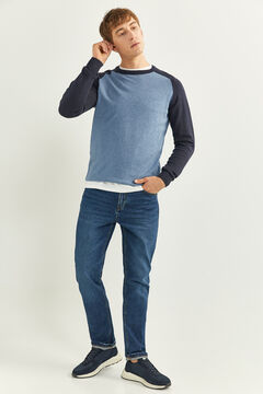 Springfield Cotton jumper steel blue