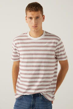 Springfield Stripy t-shirt deep red