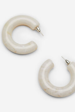 Springfield Marbled hoop earrings natural