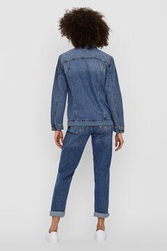 Springfield Oversize denim jacket bluish