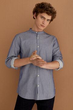 Springfield Camisa dobby mao azul