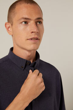 Springfield Jersey-knit shirt blue