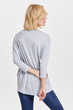 Springfield 3/4-length sleeve blouse gray