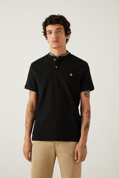Springfield Polo slim mao chambray noir