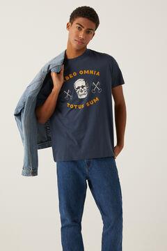 Springfield Skull t-shirt bluish