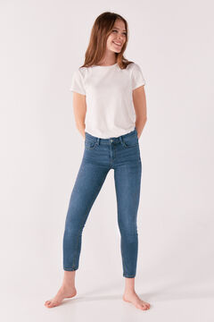 Springfield Slim fit Cropped Jeans blue