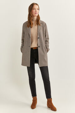 Springfield Essential Checked Coat ecru