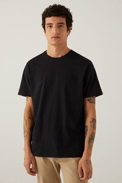 Springfield T-shirt básica logo preto