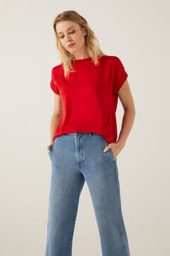 Springfield Plain roll-up sleeves t-shirt brick