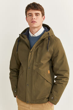 Springfield SHORT HOODED PARKA dark gray