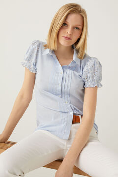 Springfield Swiss embroidery sleeves blouse bluish