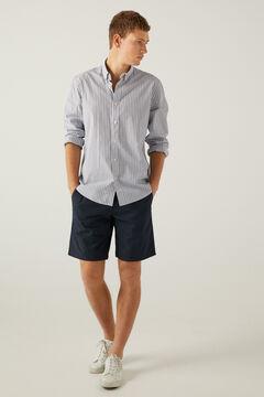 Springfield Micro print Bermuda shorts navy