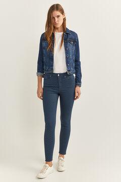 Springfield Pantalon Skinny High Rise Eco Dye bleu indigo