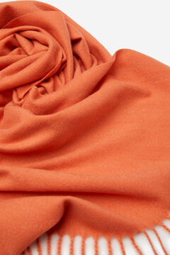 Springfield Plain fringed scarf orange