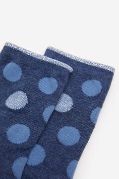 Springfield Lurex Polka-dot Socks steel blue
