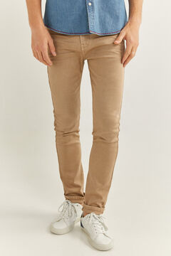 Springfield Skinny fit washed coloured 5-pocket trousers camel