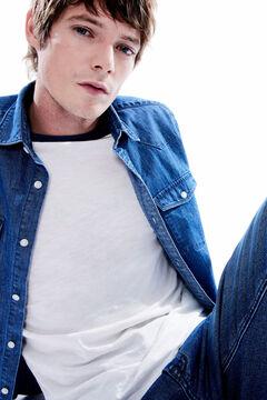 Springfield Jeanshemd zwei Taschen blau
