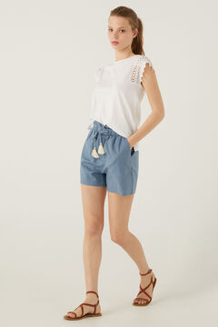 Springfield Cotton jogger shorts bluish