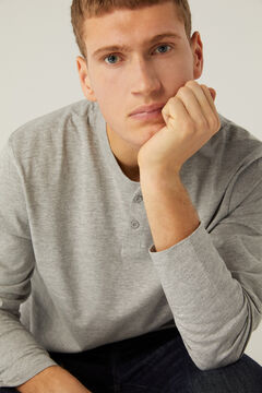 Springfield Camisola de manga comprida e gola padeiro cinza