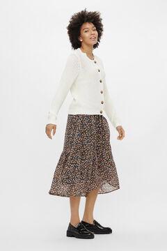 Springfield Knit cardigan fehér