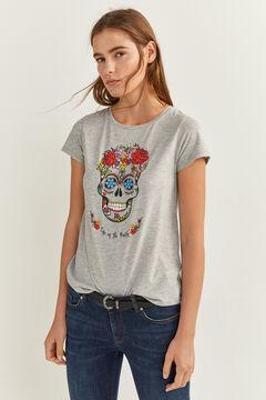 Springfield Halloween Graphic T-Shirt gray