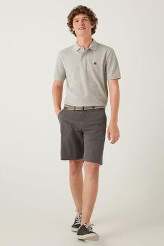 Springfield Lightweight stretch belted Bermuda shorts grey mix