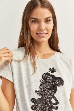 """Springfield """"Minnie"""" glitter t-shirt grey"""