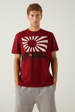 Springfield T-shirt Beatles vermelho real