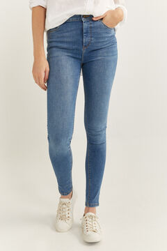 Springfield High Rise Sculpt Jeans steel blue