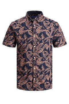 Springfield Camisa algodón manga corta marino