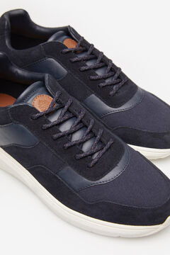Springfield SPLIT LEATHER TRAINER bluish