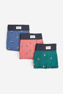 Springfield Pack 3 boxers tropicales azul