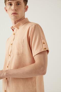 Springfield Camisa manga corta dobby terracotta