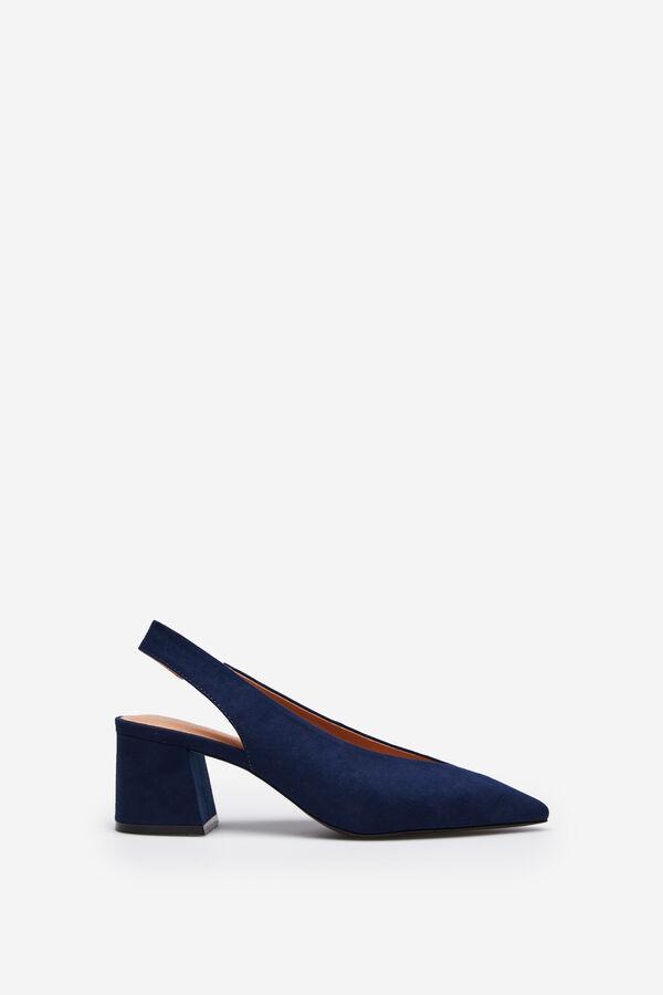 Springfield Zapato punta slingback navy mezcla 87768d0ba4f4