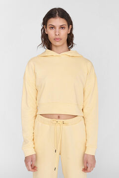 Springfield Crop hooded sweatshirt banana