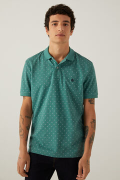 Springfield Piqué polo shirt all-over print green
