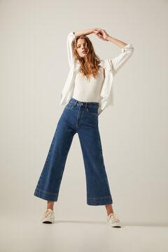 Springfield Jeans Culotte blau