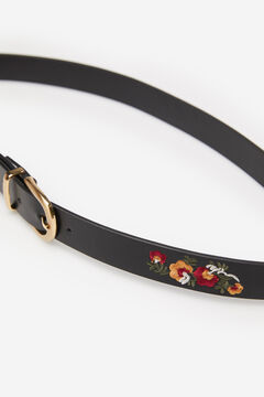 Springfield Floral embroidery belt black
