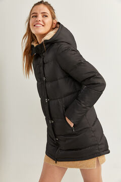 Springfield Long Feather Coat black