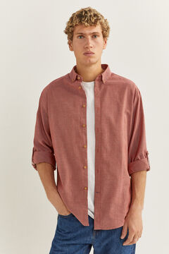 Springfield Textured shirt bordeaux