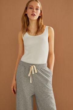 Springfield Ribbed organic cotton body medium beige