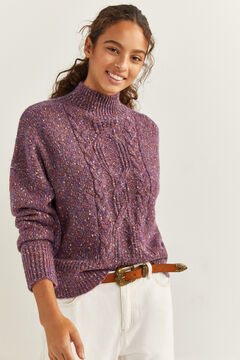 Springfield Camisola Cable Knit pedra