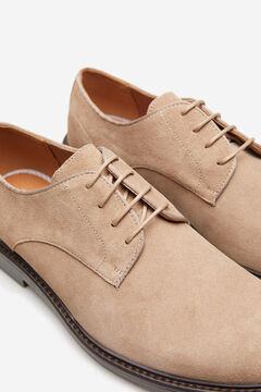Springfield Split leather blucher shoe natural