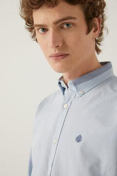 Springfield Camisa pinpoint azul