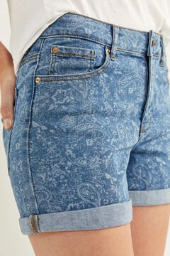 Springfield Essential denim shorts steel blue