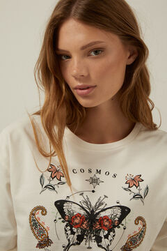 Springfield Organic cotton Cosmos sweatshirt medium beige