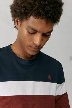 Springfield Long-sleeved piqué T-shirt blue