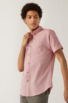 Springfield Camisa manga corta dobby rojo